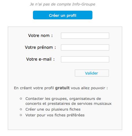 Profil gratuit sur info-groupe
