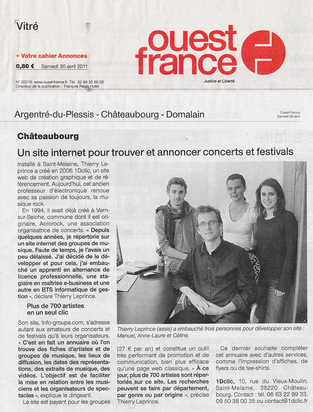 Articles presse à propos d'Info-Groupe.com