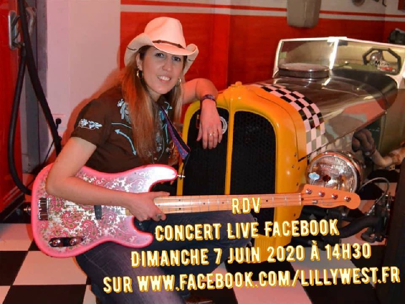 Retrouvez Lilly West en concert en Direct sur Facebook - Lilly West