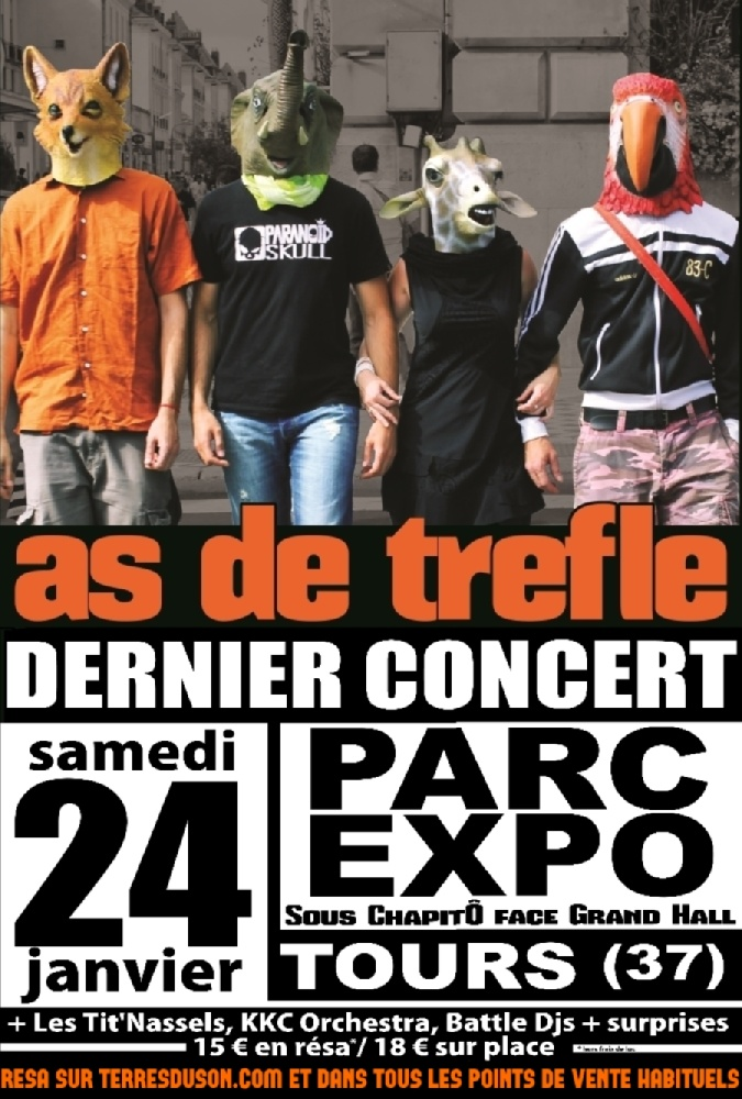 As de Tr�fle : Groupe Rock alternatif Rock Centre-Val-de-loire - Indre-et-loire (37)