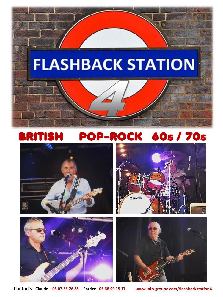 Flashback Station 4 : Groupe Pop-rock British Pop-Rock 60s/70s Bretagne - Côtes-d'Armor (22)