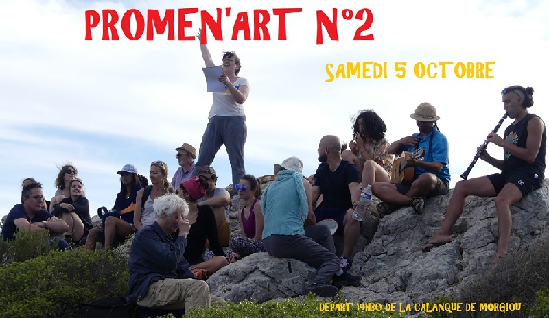 Photo concert Promen'art dans les calanques Marseille Jean-Jacques Boitard