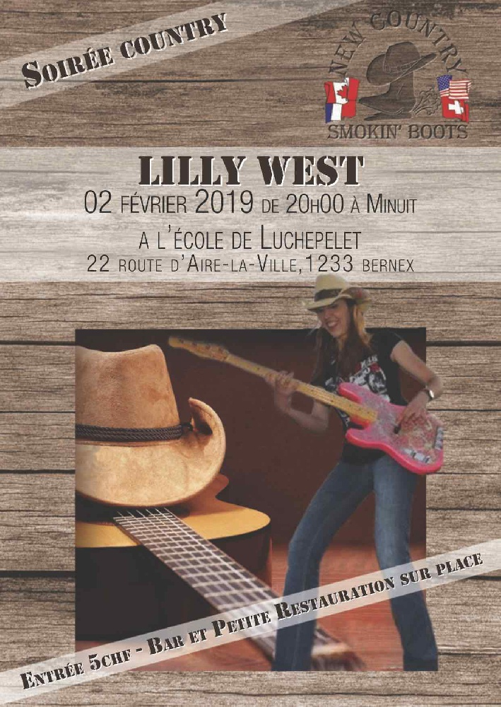 Photo concert Concert Lilly WEST en Suisse Bernex Lilly West