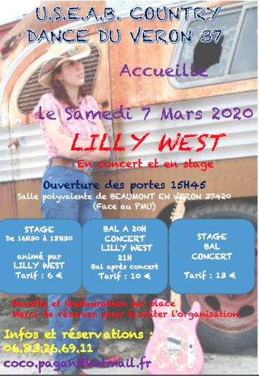 Photo concert Stage et Concert dansant de Lilly West en Indre et Loire Beaumont-en-Véron Lilly West