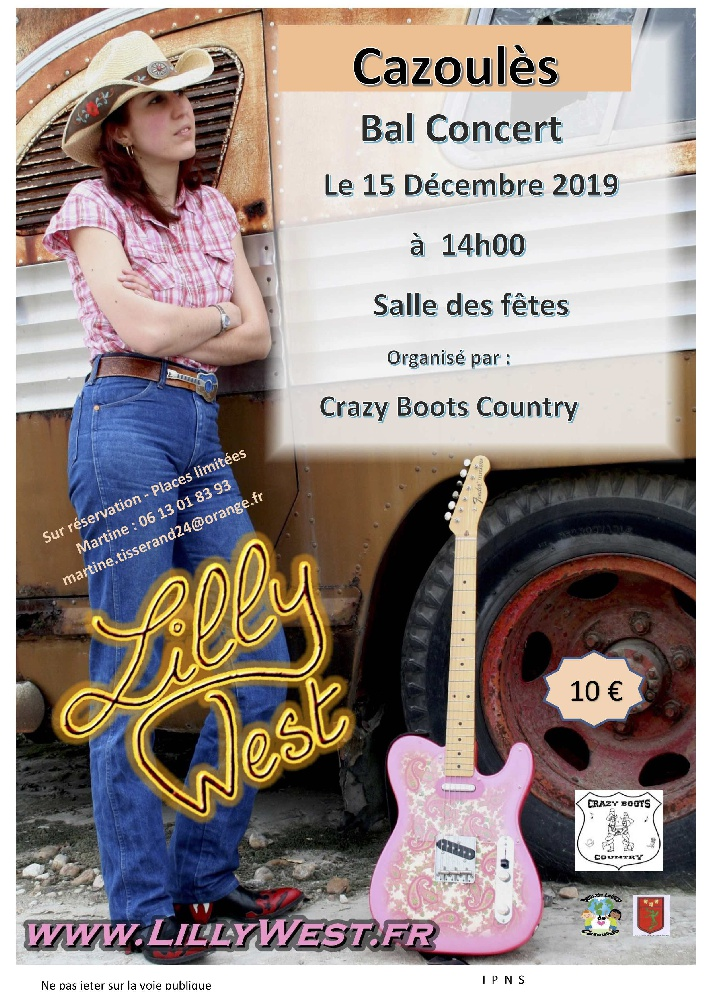 Photo concert Concert dansant de Lilly West en Dordogne Cazoulès Lilly West