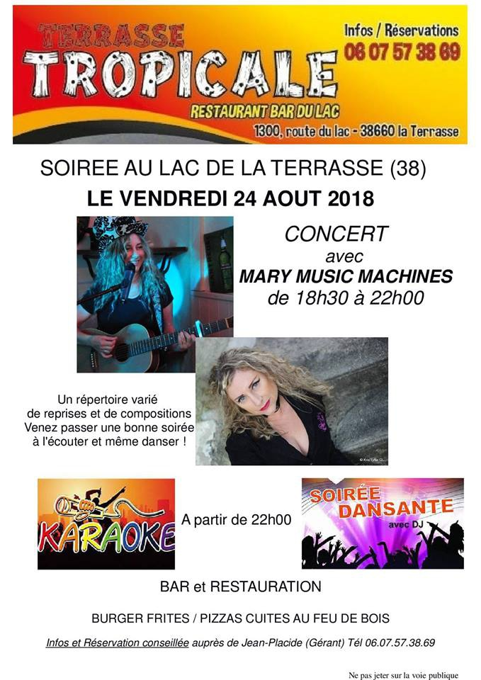 Photo concert Apéro concert -Marianic (MMM) La Terrasse Mary Music Machines